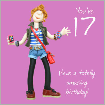 Girls17thBirthdayCardbuy Girls Seventeenth Birthday Card Online Buy