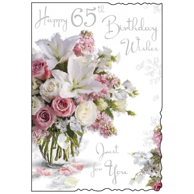 Floral 65th Birthday Card Karenza Paperie