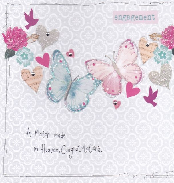 A Match Made in Heaven Engagement Card Karenza Paperie