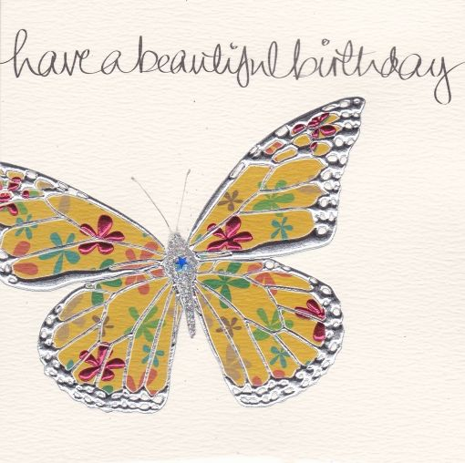 Hand Finished Butterfly Birthday Card Karenza Paperie – Butterfly Birthday Card