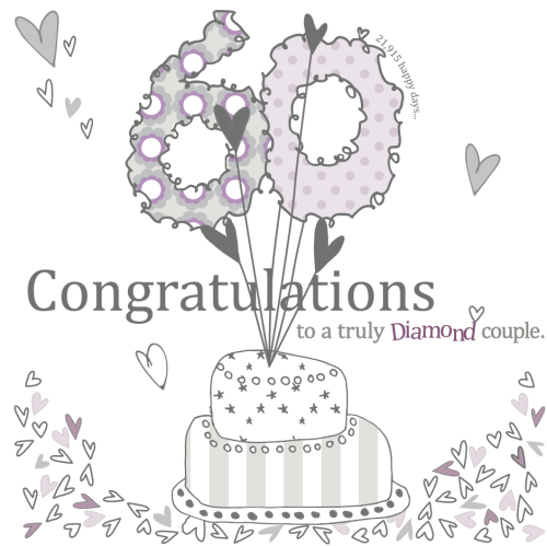 Diamond Couple 60th Wedding Anniversary Card Karenza Paperie