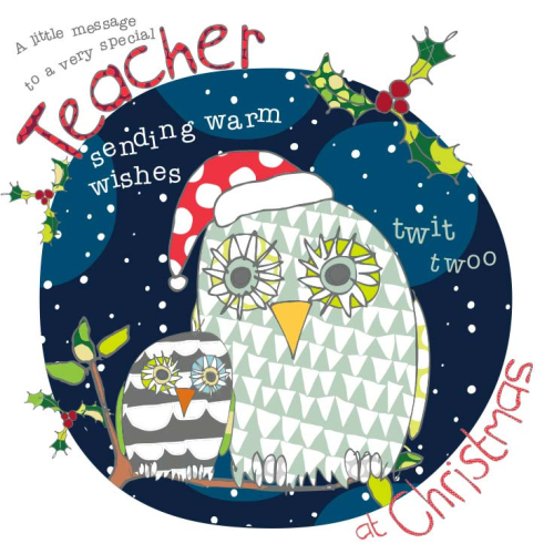 a little message to a very special teacher christmas card product images