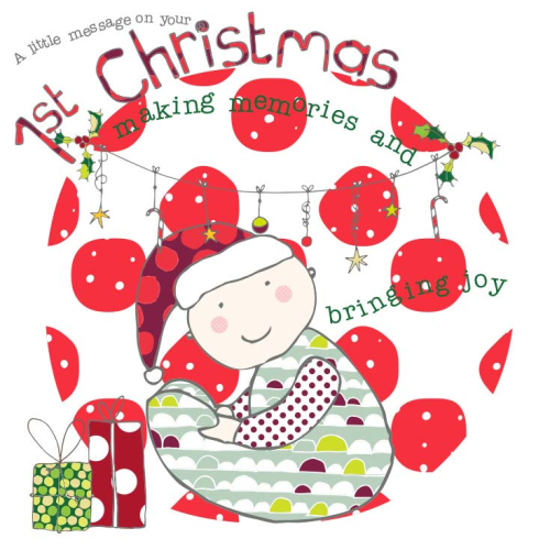 A little message on your 1st Christmas - Baby's First Christmas Card - product images
