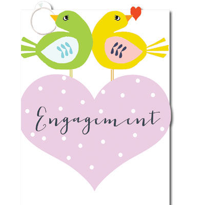 Birds,and,Ring,Engagement,Card,buy engagement card online, love birds engagement card, you are engaged card, cards for engagements, on your engagement card, engagement cards