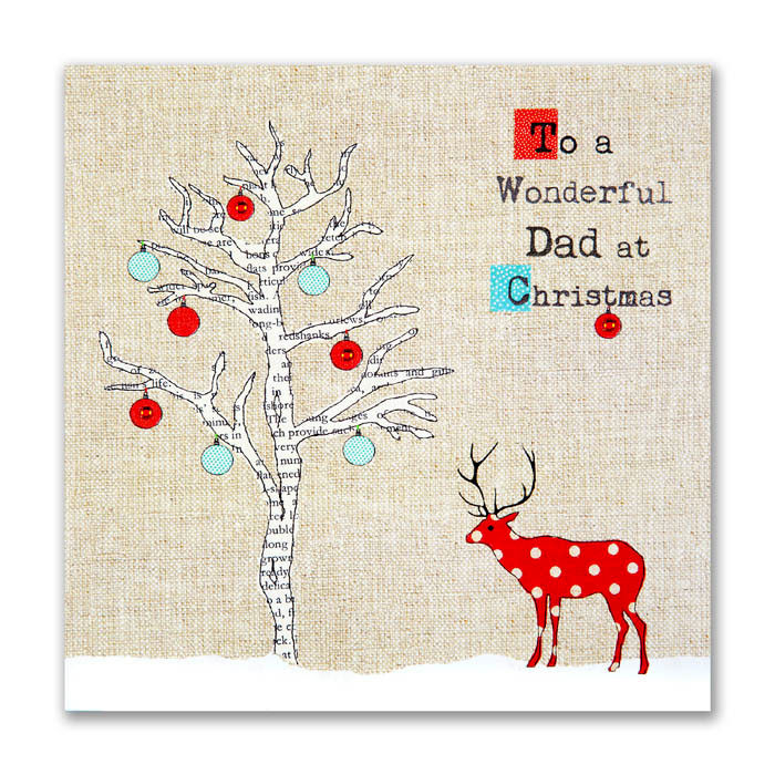 Hand finished wonderful dad christmas card karenza paperie for What to buy your dad for christmas