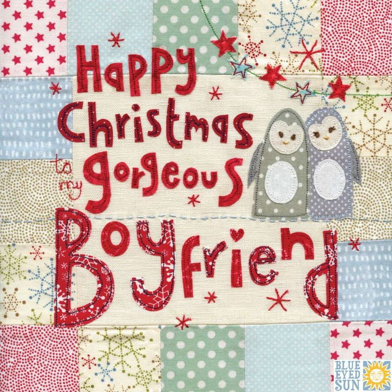 to my gorgeous boyfriend christmas card large luxury christmas card karenza paperie - Boyfriend Christmas Card