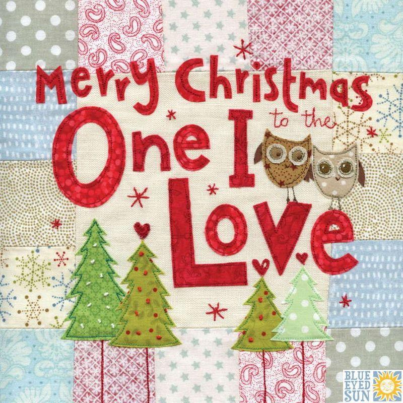 One I Love Owls Christmas Card Large Luxury Christmas