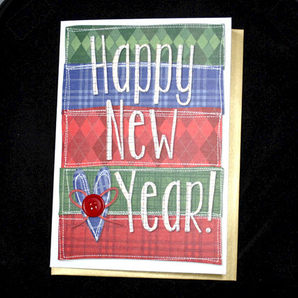 happy new year card product images of