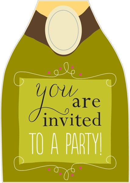 pack of 10 bottle invitations product images
