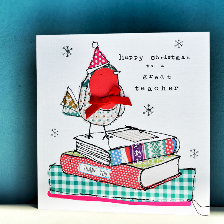 happy christmas great teacher christmas card product images