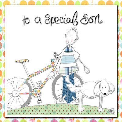 Special Son Birthday Card Karenza Paperie – Son Birthday Cards