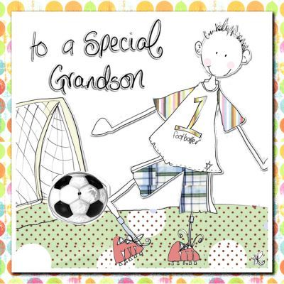 special grandson birthday card  karenza paperie, Birthday card