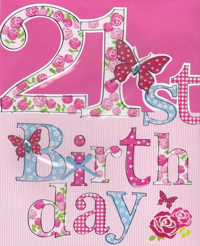 Hand,Finished,Floral,21st,Birthday,Card,-,Large,,Luxury,buy large birthday cards online, buy large 21st birthday card, twenty-one birthday card, age twenty one card, age 21 birthday card, twenty-first card, card for twenty first birthday