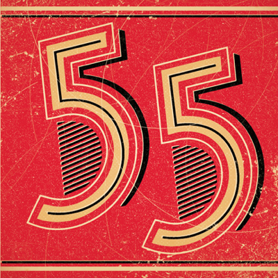 Retro 55th Birthday Card