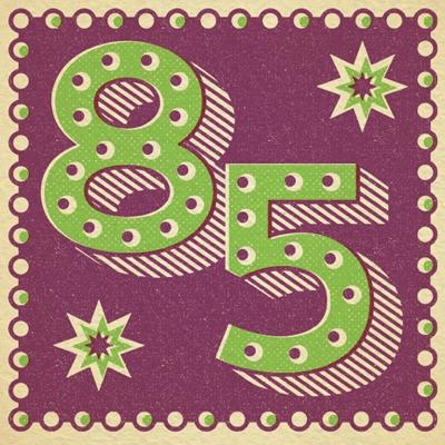 Retro 85th Birthday Card