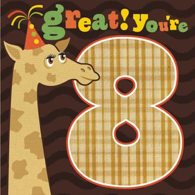Giraffe great youre 8 birthday card karenza paperie giraffe great youre 8 birthday card product images of bookmarktalkfo Image collections