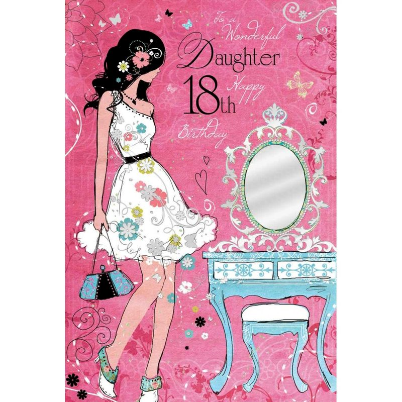 Wonderful Daughter 18th Birthday Card