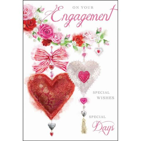 Hearts,&,Butterflies,On,Your,Engagement,Card,buy congratulations cards online, buy engagement cards online, congratulations youre engaged card, you are engaged card, cards for engagements, roses engagement card