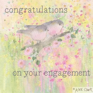 Engagement,Love,Birds,Card,buy congratulations cards online, buy engagement cards online, congratulations youre engaged card, you are engaged card, cards for engagements, roses engagement card, birds, love birds, ring engagement card,