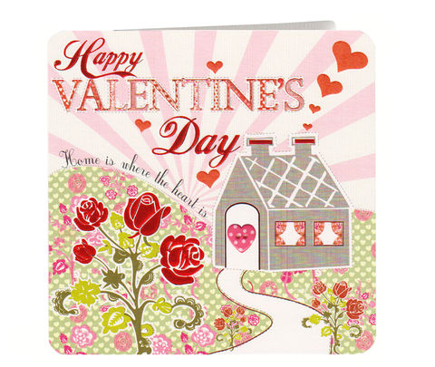 Home,Is,Where,The,Heart,Valentine's,Day,Card,buy valentines day cards online, buy card for valentines day online, home is where your heart is valentines day card, cottage valentine card, house valentine card, roses valentines day card, home valentines card, card for valentine