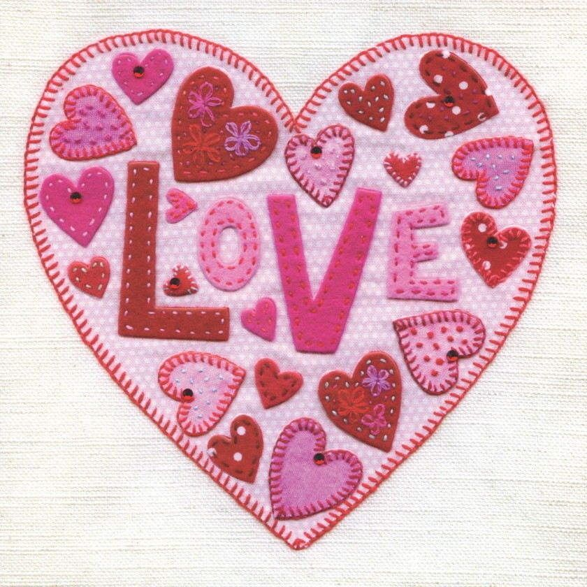 Hand Finished Heart Valentines Day Card Karenza Paperie – Buy Valentines Cards Online