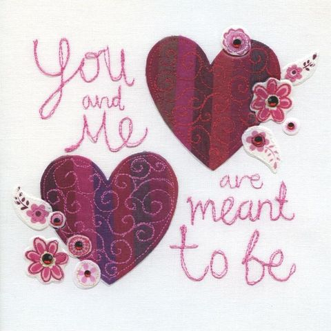 Hand,Finished,You,&,Me,Valentine's,Day,Card,buy valentines day card online, buy cards for valentines day card online, valentine cards, one i love valentines day card, one i love card, partner card for valentines day, you and me are meant to be valentines card, you & me valentines day card