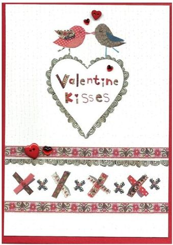 Hand,Finished,Valentine,Kisses,Valentine's,Day,Card,buy valentines day card online, valentine's day card, valentine, card for valentine, love card, 14th february card, cards for valentines
