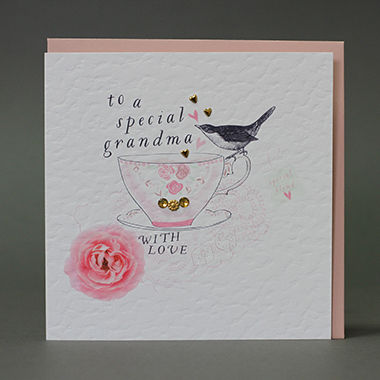 Handmade To A Special Grandma Card Karenza Paperie