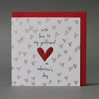With Love To My Girlfriend Valentine 39 S Day Card Karenza