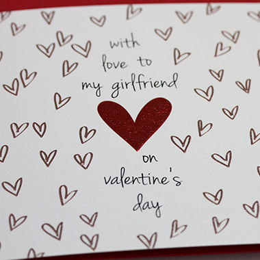 With Love To My Girlfriend Valentines Day Card  Karenza Paperie