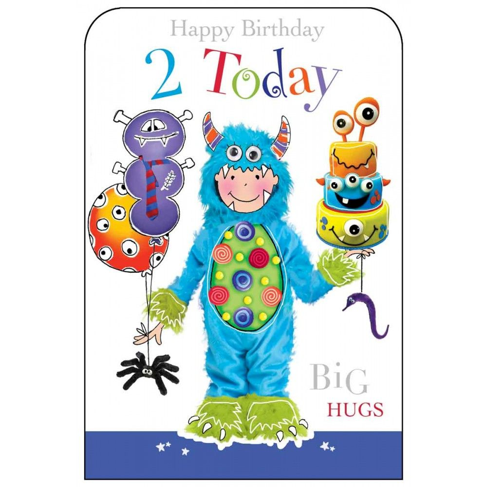 Happy Birthday 2 Today Boys Birthday Card Karenza Paperie – Happy 2nd Birthday Card