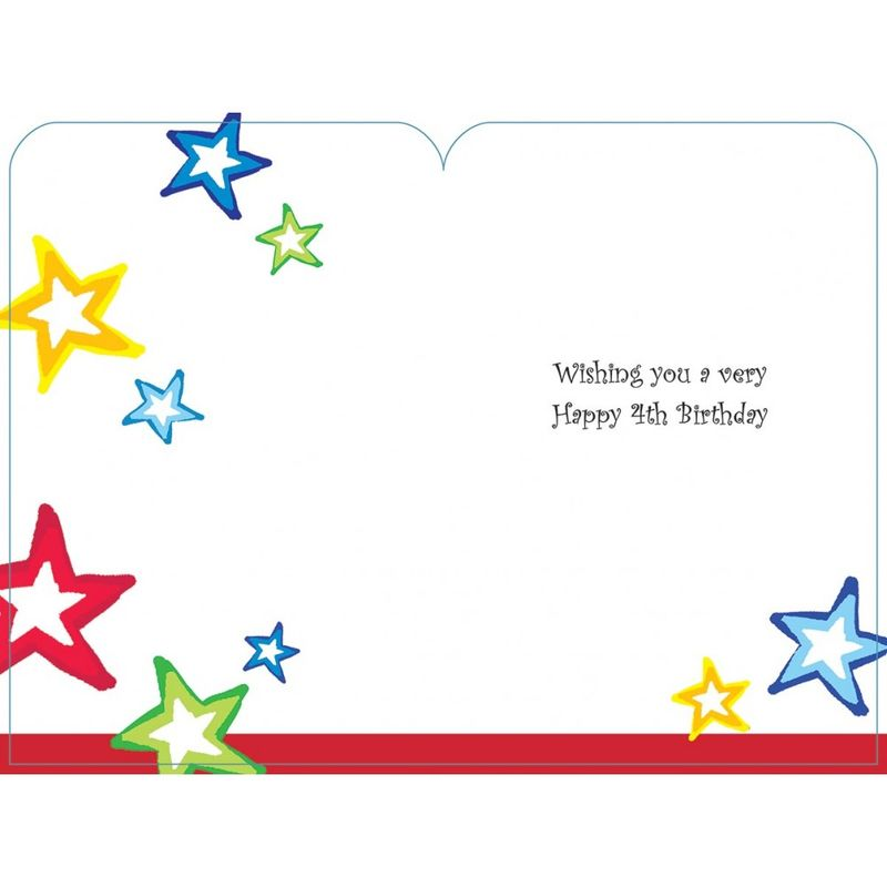 Happy birthday 4 today boys birthday card karenza paperie happy birthday 4 today boys birthday card product images of bookmarktalkfo Choice Image