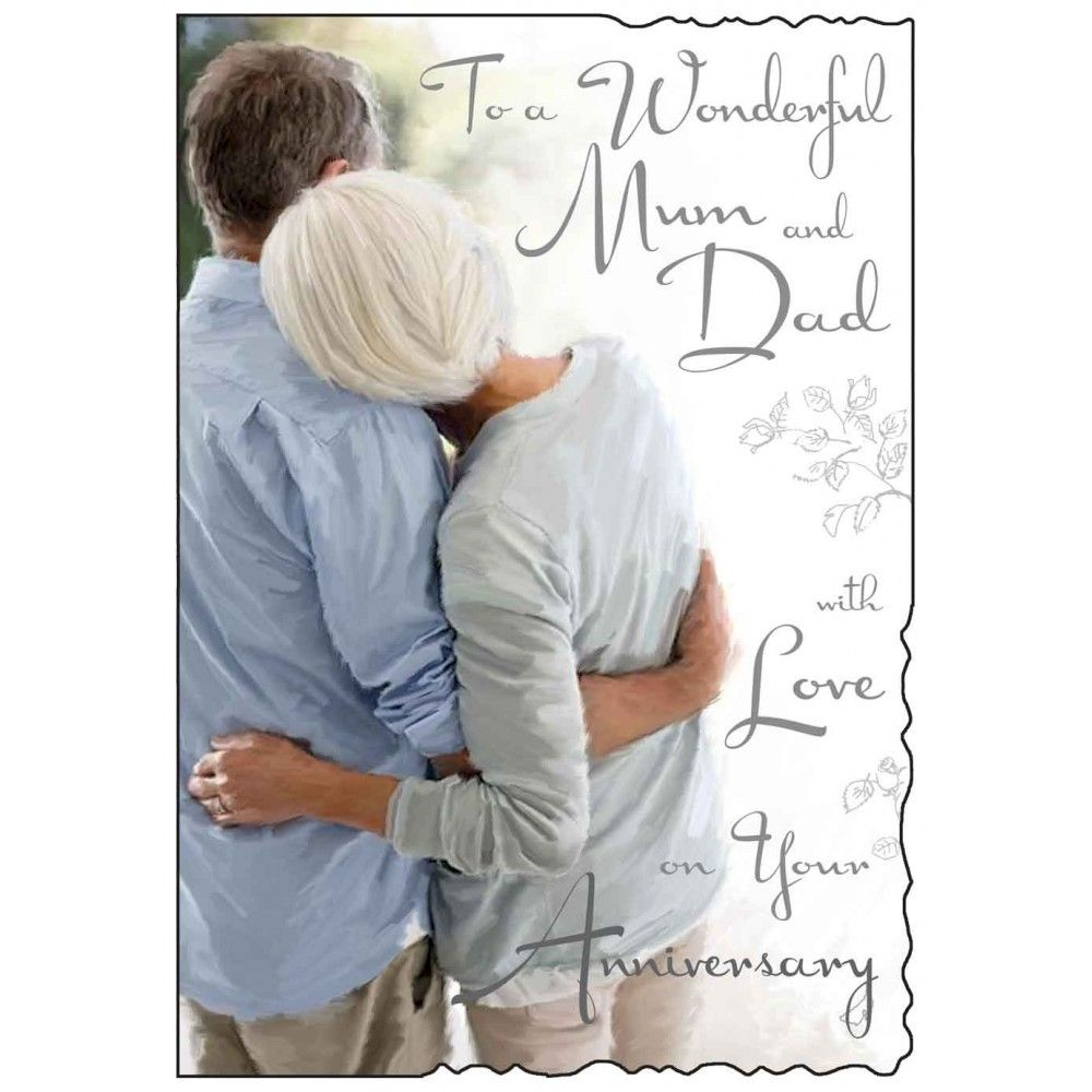 Wonderful Mum And Dad With Love On Your Anniversary Card