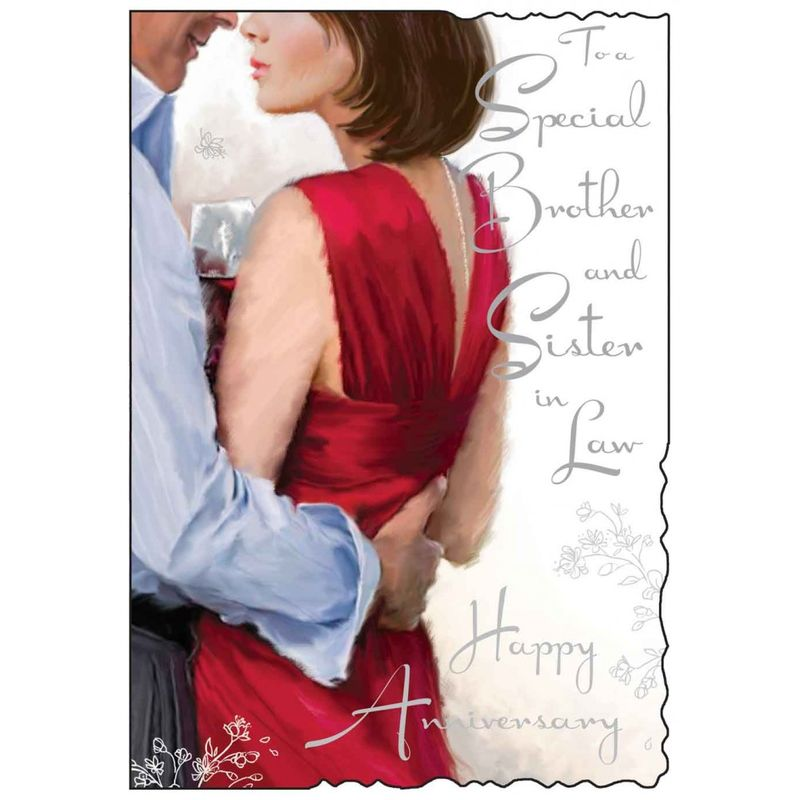 Special Brother and Sister In Law Happy Anniversary Card - Karenza Paperie