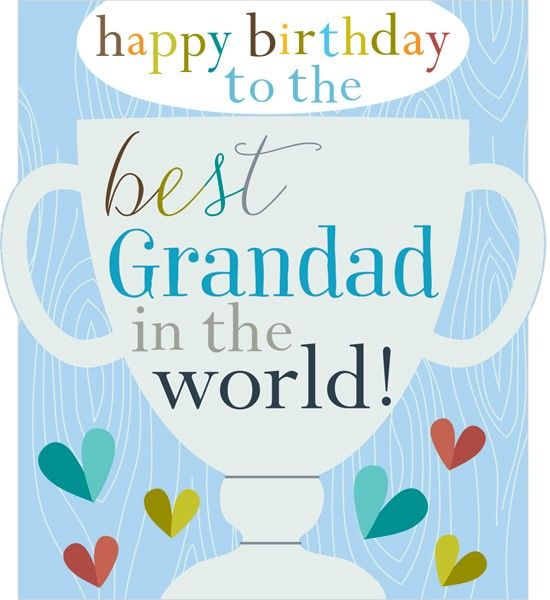 Best Grandad In The World Birthday Card