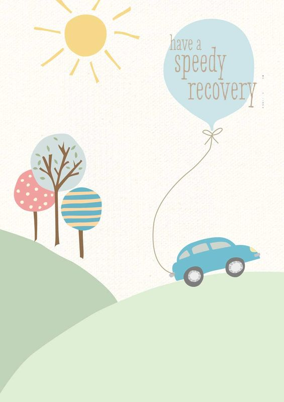 speedy recovery car get well soon card karenza paperie