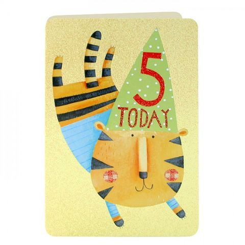 Age,5,Tiger,Birthday,Card,buy 5th birthday card online, buy girls age 5 birthday card online, buy tiger 5th birthday card online, buy girls age five birthday card online, tiger birthday cards, age 5 birthday cards, childrens birthday cards