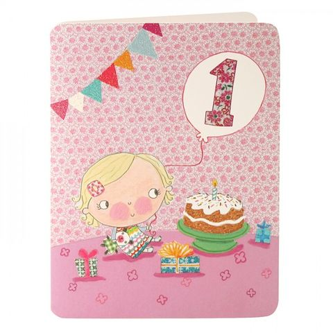 Baby,Girls,First,Birthday,Card,buy 1st birthday card online, buy little girls age 1 birthday card online, buy baby girls 1st birthday card online, buy girls age one birthday card online, birthday cake birthday cards, age 1 birthday cards, childrens birthday cards