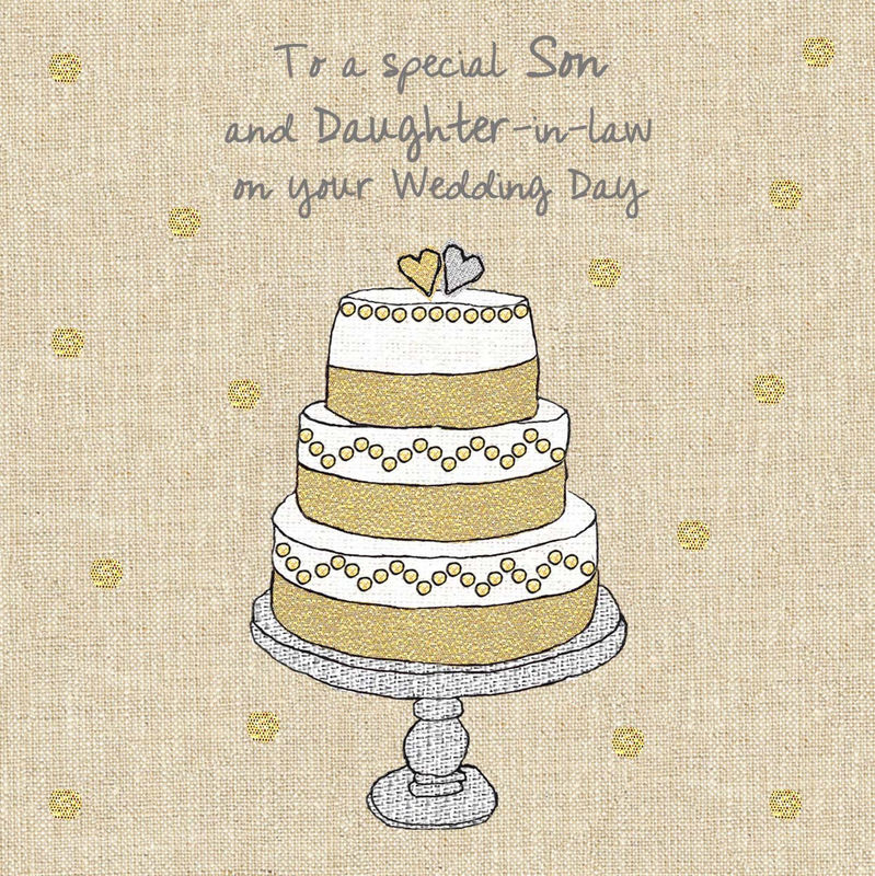 Son Daughter In Law Wedding Cake Card