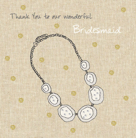 Our,Wonderful,Bridesmaid,Thank,You,Card,buy bridesmaid thank you cards online, wedding thank you cards for bridesmaid, cards for bridesmaids, bridesmaid cards with necklaces, thank you cards for bridesmaid, bridal party cards for bridesmaid, bridal party thank you cards,