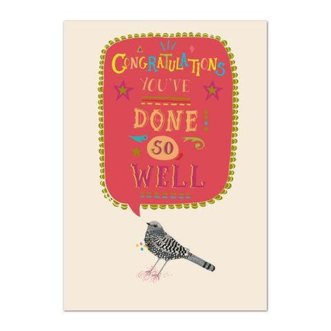Congratulations,You've,Done,So,Well,Card,buy congratulations card online, buy well done card online, well done cards, bird congratulations card, congrats card, youve done so well congratulations card, exams congratulations card, congratulations on your exams card,