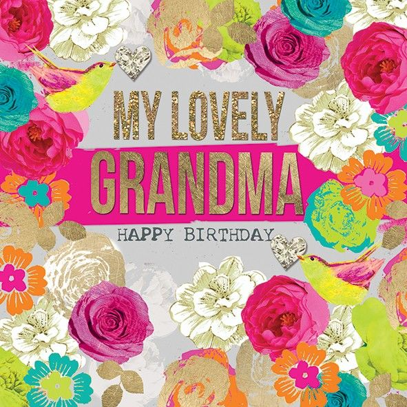 My Lovely Grandma Birthday Card Karenza Paperie – Birthday Cards for Grandma