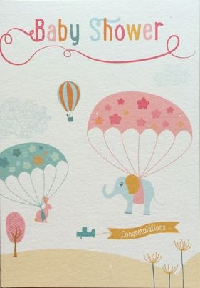 Parachutes Baby Shower Card   Product Images Of