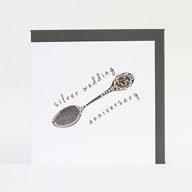 Silver,Spoon,25th,Wedding,Anniversary,Card,buy silver wedding anniversary card online, buy 25th wedding anniversary card online, twenty-fifth wedding anniversary cards, cards for silver anniversary, twenty fifth wedding anniversary card, cards for wedding anniversaries,