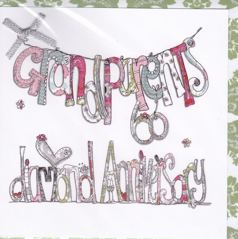 Grandparents Diamond Wedding Anniversary Card - Karenza Paperie