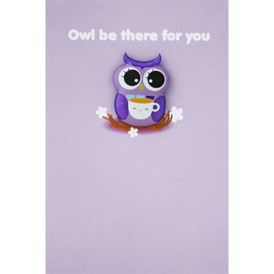 Owl,I,Will,Be,There,For,You,Card,buy magnet card online, buy friendship cards online, buy owl cards online, magnet card, card with magnet, cards for thinking of you, warm wishes card, card for friend, friendship card