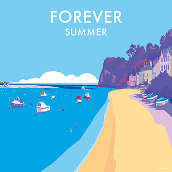Forever,Summer,Blank,Greetings,Card,buy blank greetings cards online, buy boat cards online, cards with boats, cards with yachts, yacht cards for him, seaside cards, castle cards, sailing away cards, cards for sailing away, bon voyage cards, cards for bon voyage, sails,