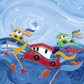 Boats,And,Fish,Blank,Greetings,Card,buy blank greetings cards online, buy gone fishing cards online, boat cards, beach hut cards, fishing boat cards, seaside cards online, punch and judy card, at the beach card, sandcastle card, harbour card,