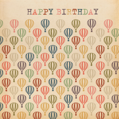 Retro,Hot,Air,Balloons,Happy,Birthday,Card,buy hot air balloon birthday cards for him online, buy retro birthday cards online, buy male birthday cards online, buy mens balloon birthday card online, birthday cards for men, birthday cards with hot air balloons