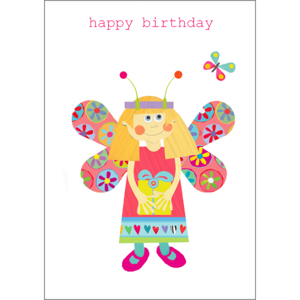 Butterfly Girl Birthday Card Karenza Paperie – Birthday Cards Girls